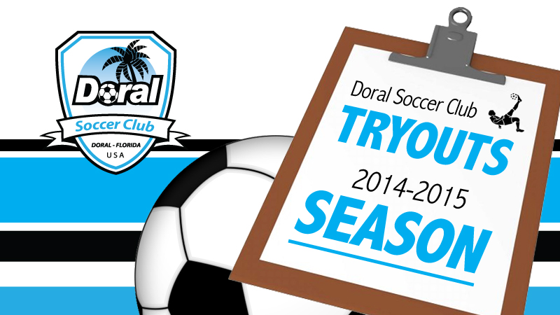 TRYOUTS • SEASON 2014 – 2015