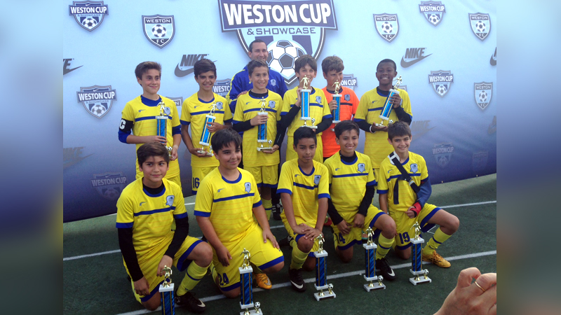 U12 Blue Champion's Weston Tournament 2015