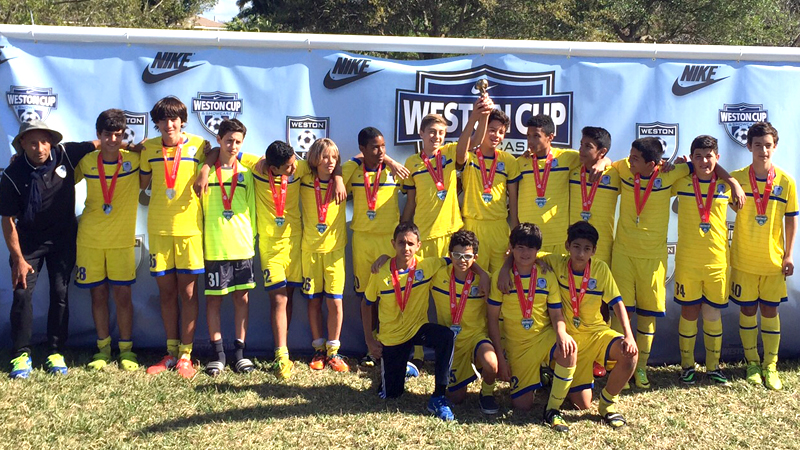 U14 Blue Finalist Weston Tournament 2015