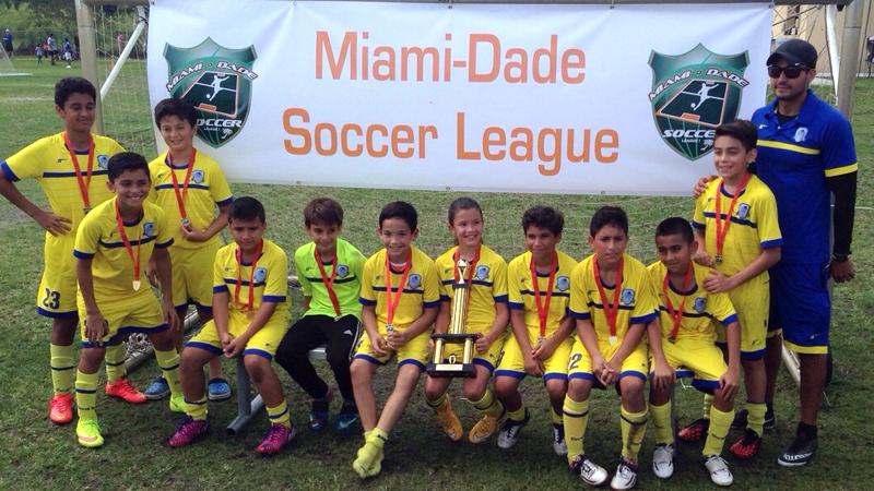 U11 Blue Champions Miami Dade Soccer League