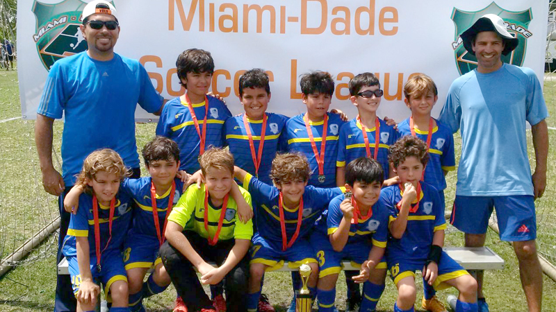 U9 Blue Champions Miami Dade Soccer League
