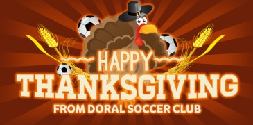 Happy Thanksgiving from the Doral Soccer Club Family!