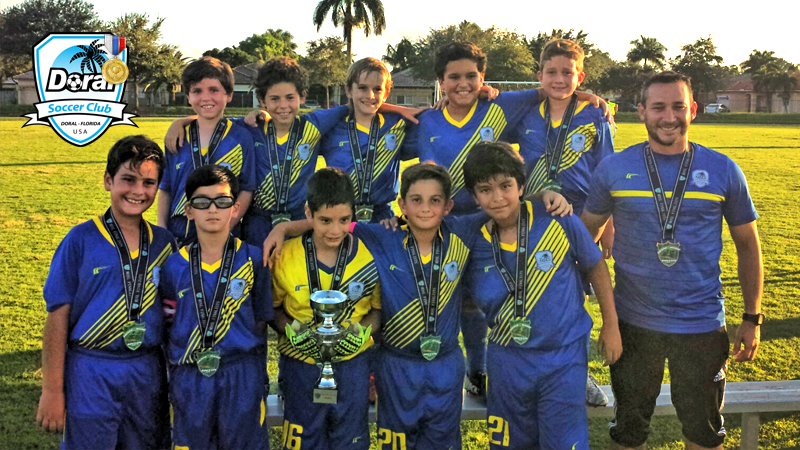 U10 Blue Finalist Miami Dade Soccer League