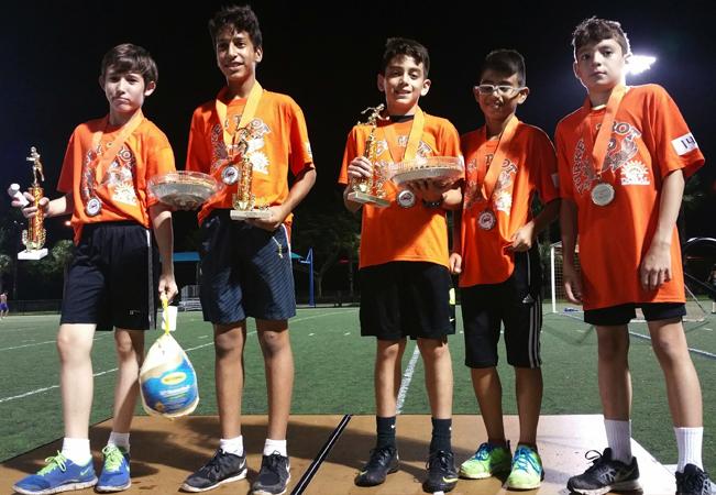 U12 - Champion's - U12 - Andrew Ginestra, Hector Molero, Jaydon Rodriguez, Sebastian Chahin, Joao Bruno Batista