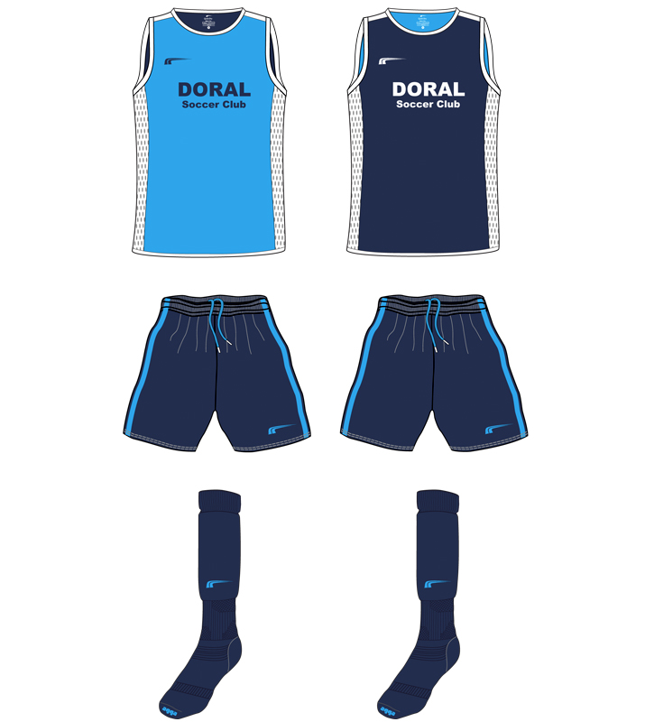 Doral Soccer Club Uniforms b 2016