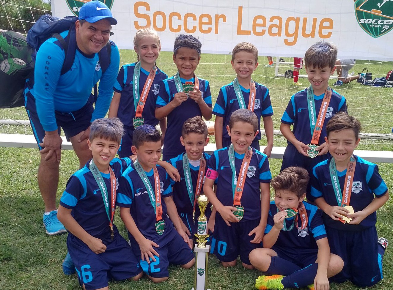 Miami Dade Soccer League U9 White Champion's